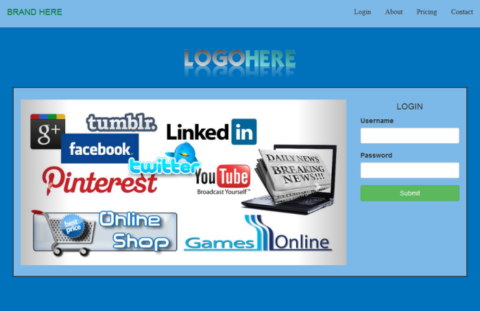 word web page template